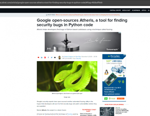 Google open-sources Atheris, a tool for finding security bugs in Python code